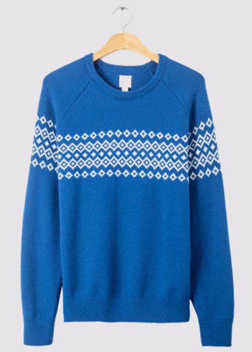 男装|羊毛混纺圆领毛衣