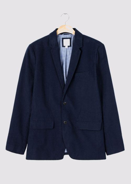 男装|纯棉仿鼹鼠皮西装式外套
